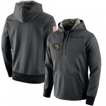 Men's Nike San Francisco 49ers Anthracite Salute to Service Player Performance Hoodie -