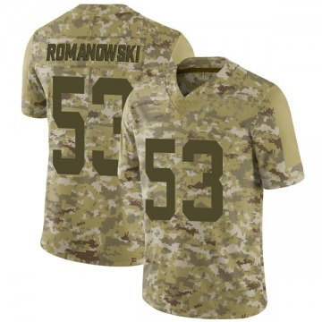 Men's Nike San Francisco 49ers Bill Romanowski Camo 2018 Salute to Service Jersey - Limited