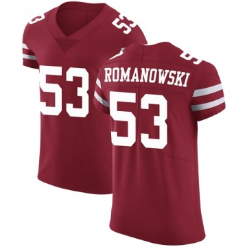 Men's Nike San Francisco 49ers Bill Romanowski Red Team Color Vapor Untouchable Jersey - Elite