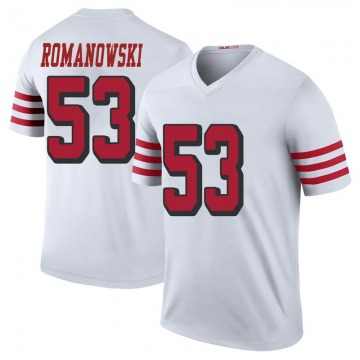 Men's Nike San Francisco 49ers Bill Romanowski White Color Rush Jersey - Legend