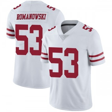 Men's Nike San Francisco 49ers Bill Romanowski White Vapor Untouchable Jersey - Limited