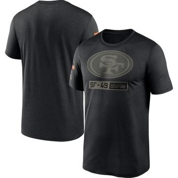 Men's Nike San Francisco 49ers Black 2020 Salute to Service Team Logo Performance T-Shirt -