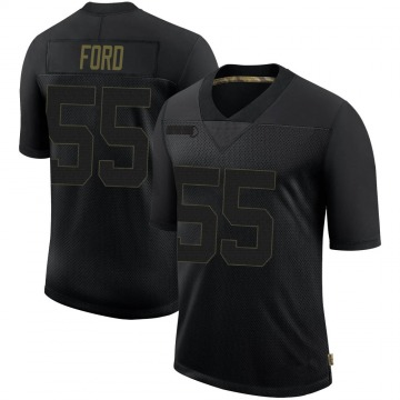 Men's San Francisco 49ers Dee Ford Black 2020 Salute To Service Jersey - Limited