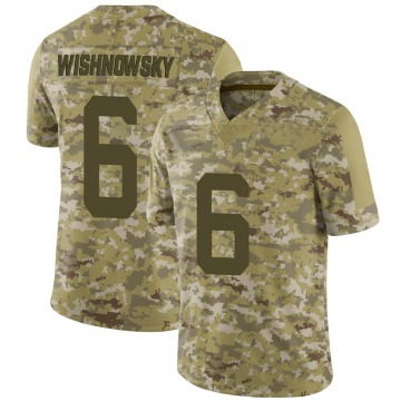 Men's San Francisco 49ers Mitch Wishnowsky Camo 2018 Salute to Service Jersey - Limited