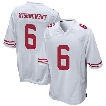 Men's Nike San Francisco 49ers Mitch Wishnowsky White Jersey - Game