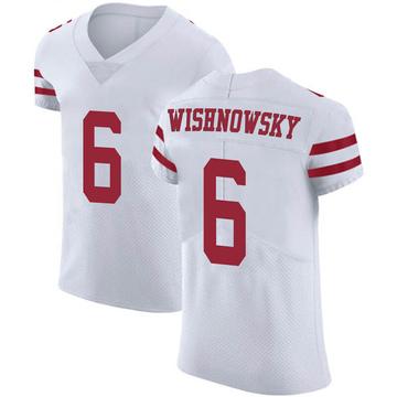 Men's Nike San Francisco 49ers Mitch Wishnowsky White Vapor Untouchable Jersey - Elite