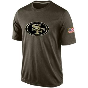 Men's Nike San Francisco 49ers Olive Salute To Service KO Performance Dri-FIT T-Shirt -