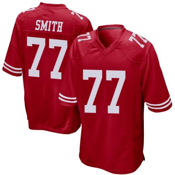 Men's Nike San Francisco 49ers Ray Smith Red Team Color Jersey - Game