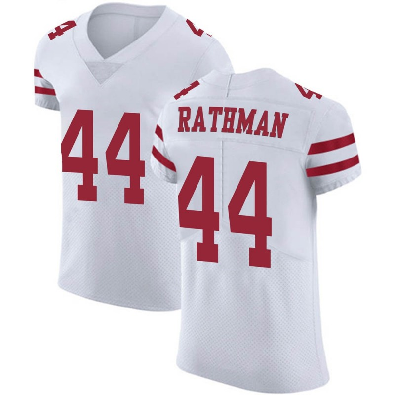 new style 486a3 dc5b4 Men's Nike San Francisco 49ers Tom Rathman White Vapor Untouchable Jersey -  Elite