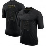 Men's Nike San Francisco 49ers Y.A. Tittle Black 2020 Salute To Service Jersey - Limited