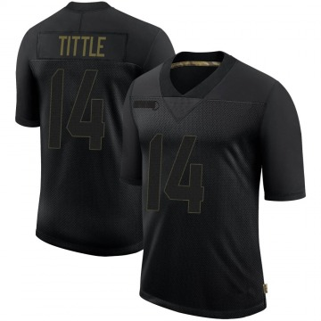 Men's San Francisco 49ers Y.A. Tittle Black 2020 Salute To Service Jersey - Limited
