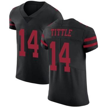 Men's San Francisco 49ers Y.A. Tittle Black Alternate Vapor Untouchable Jersey - Elite
