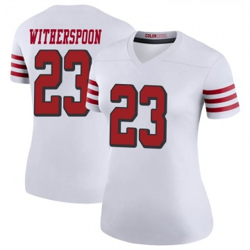 Women's Nike San Francisco 49ers Ahkello Witherspoon White Color Rush Jersey - Legend