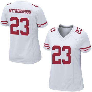 Women's Nike San Francisco 49ers Ahkello Witherspoon White Jersey - Game