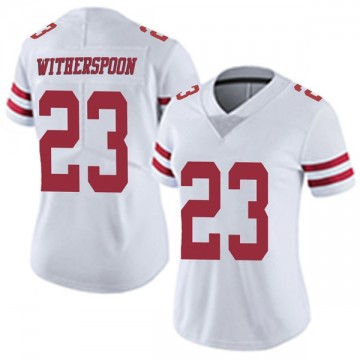 Women's Nike San Francisco 49ers Ahkello Witherspoon White Vapor Untouchable Jersey - Limited