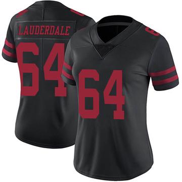 Women's Nike San Francisco 49ers Andrew Lauderdale Black Alternate Vapor Untouchable Jersey - Limited