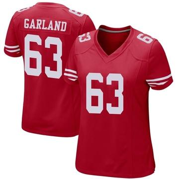 Women's Nike San Francisco 49ers Ben Garland Red Team Color Jersey - Game