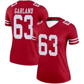 Women's Nike San Francisco 49ers Ben Garland Scarlet Jersey - Legend
