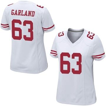 Women's Nike San Francisco 49ers Ben Garland White Jersey - Game