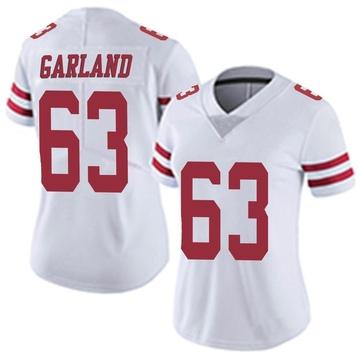 Women's Nike San Francisco 49ers Ben Garland White Vapor Untouchable Jersey - Limited