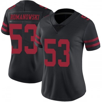 Women's Nike San Francisco 49ers Bill Romanowski Black Alternate Vapor Untouchable Jersey - Limited