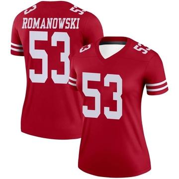 Women's Nike San Francisco 49ers Bill Romanowski Scarlet Jersey - Legend