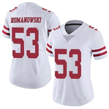 Women's Nike San Francisco 49ers Bill Romanowski White Vapor Untouchable Jersey - Limited