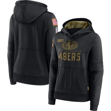 Women's Nike San Francisco 49ers Black 2020 Salute to Service Performance Pullover Hoodie -