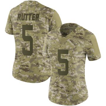Women's Nike San Francisco 49ers Broc Rutter Camo 2018 Salute to Service Jersey - Limited