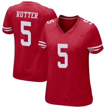 Women's Nike San Francisco 49ers Broc Rutter Red Team Color Jersey - Game