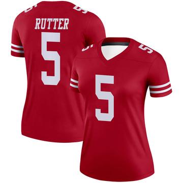 Women's Nike San Francisco 49ers Broc Rutter Scarlet Jersey - Legend
