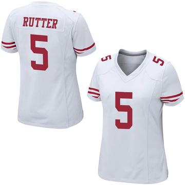 Women's Nike San Francisco 49ers Broc Rutter White Jersey - Game