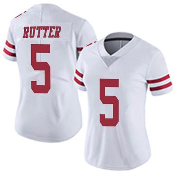 Women's Nike San Francisco 49ers Broc Rutter White Vapor Untouchable Jersey - Limited