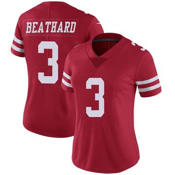 Women's Nike San Francisco 49ers C.J. Beathard Scarlet 100th Vapor Jersey - Limited