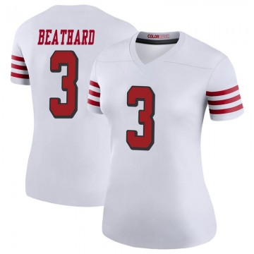 Women's Nike San Francisco 49ers C.J. Beathard White Color Rush Jersey - Legend