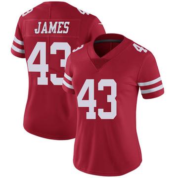 Women's Nike San Francisco 49ers Chanceller James Red Team Color Vapor Untouchable Jersey - Limited