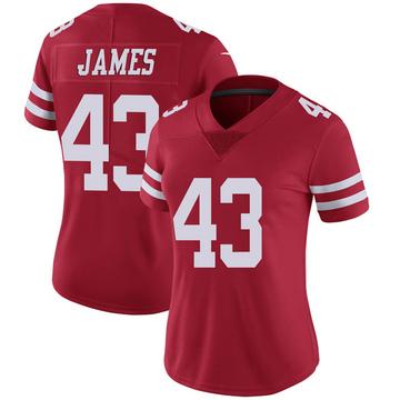 Women's Nike San Francisco 49ers Chanceller James Scarlet 100th Vapor Jersey - Limited