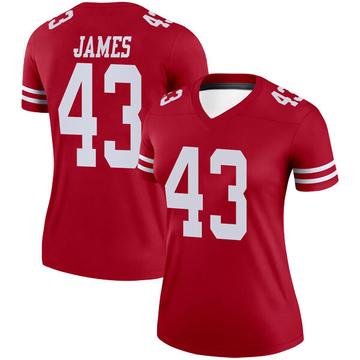 Women's Nike San Francisco 49ers Chanceller James Scarlet Jersey - Legend