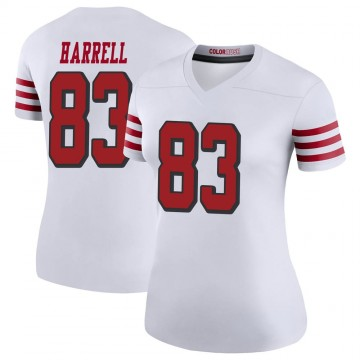 Women's Nike San Francisco 49ers Chase Harrell White Color Rush Jersey - Legend