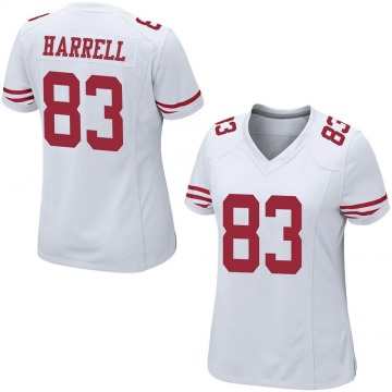 Women's Nike San Francisco 49ers Chase Harrell White Jersey - Game