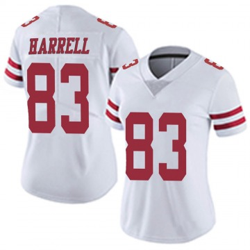 Women's Nike San Francisco 49ers Chase Harrell White Vapor Untouchable Jersey - Limited