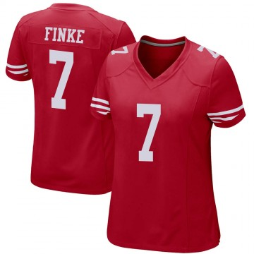 Women's Nike San Francisco 49ers Chris Finke Red Team Color Jersey - Game