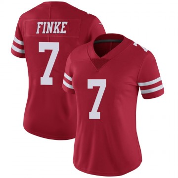 Women's Nike San Francisco 49ers Chris Finke Scarlet 100th Vapor Jersey - Limited