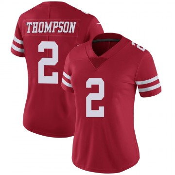 Women's Nike San Francisco 49ers Chris Thompson Scarlet 100th Vapor Jersey - Limited