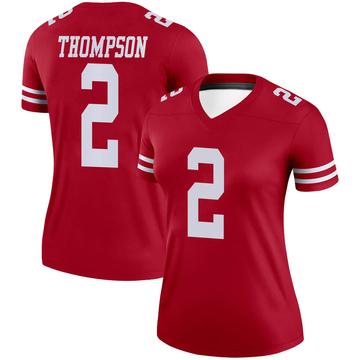 Women's Nike San Francisco 49ers Chris Thompson Scarlet Jersey - Legend
