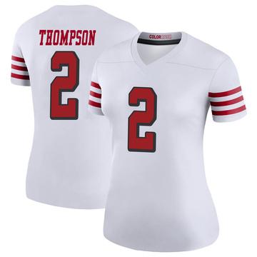 Women's Nike San Francisco 49ers Chris Thompson White Color Rush Jersey - Legend