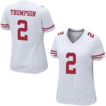 Women's Nike San Francisco 49ers Chris Thompson White Jersey - Game