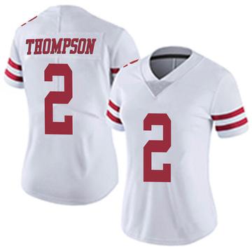 Women's Nike San Francisco 49ers Chris Thompson White Vapor Untouchable Jersey - Limited