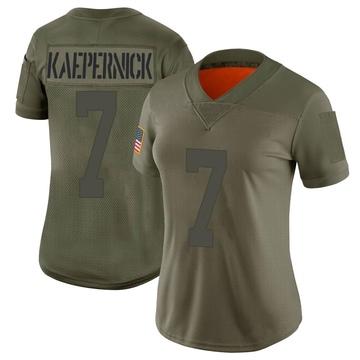 Women's Nike San Francisco 49ers Colin Kaepernick Camo 2019 Salute to Service Jersey - Limited