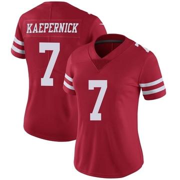 Women's Nike San Francisco 49ers Colin Kaepernick Red Team Color Vapor Untouchable Jersey - Limited
